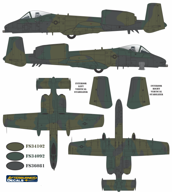 a 10a thunderbolt ii europe i color profile and paint guide - Camo Paint Colors