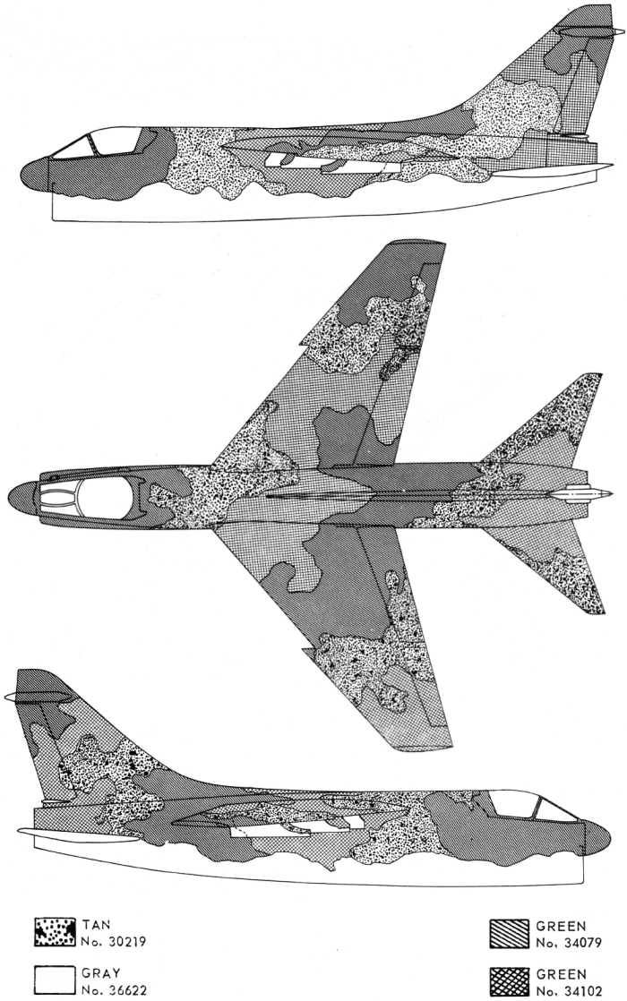LTV A-7D Corsair II Southeast Asia Camouflage Color Profile