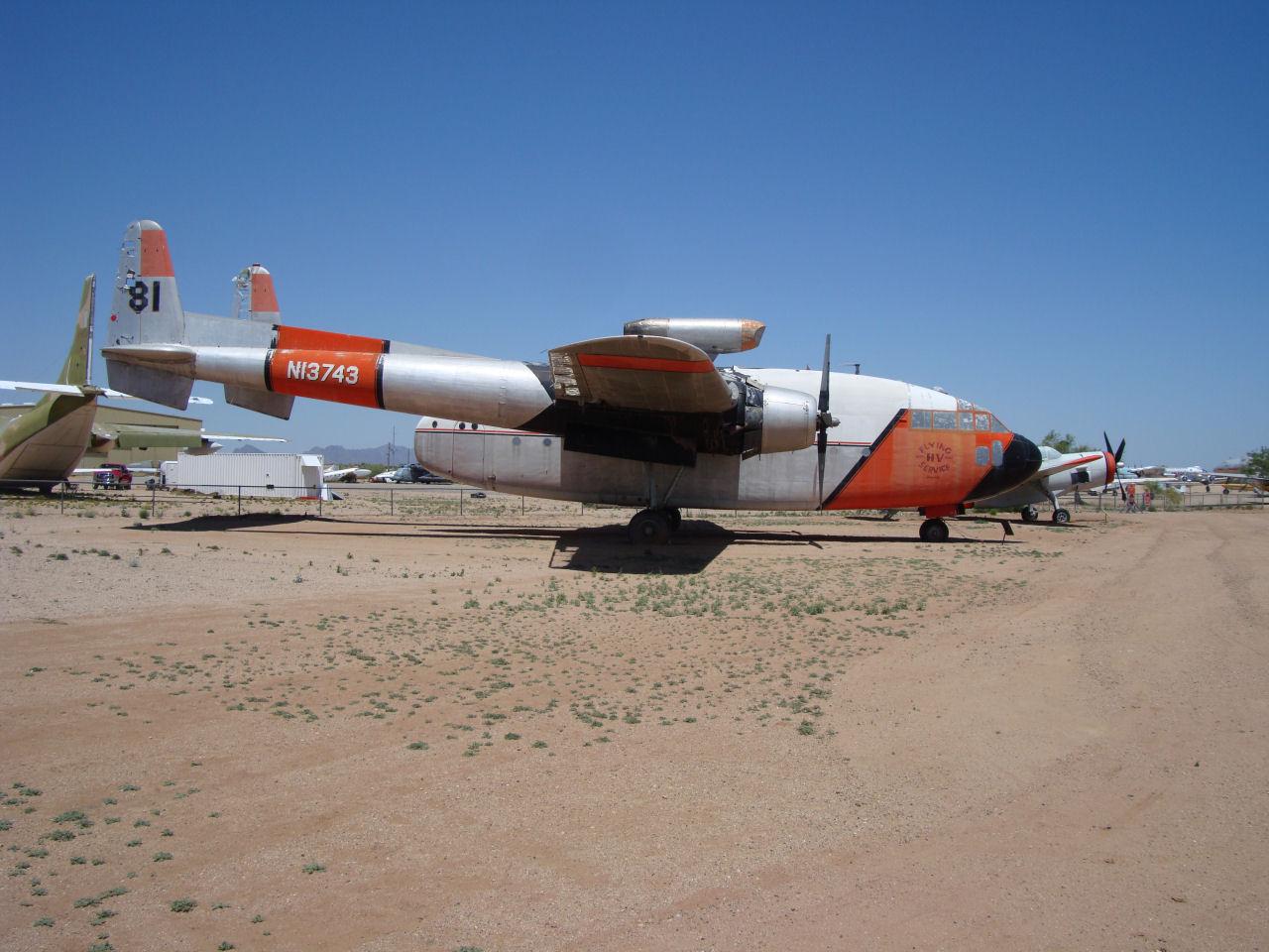 Fairchild C-119C Flying Boxcar Fire Tanker Photo Walk Around