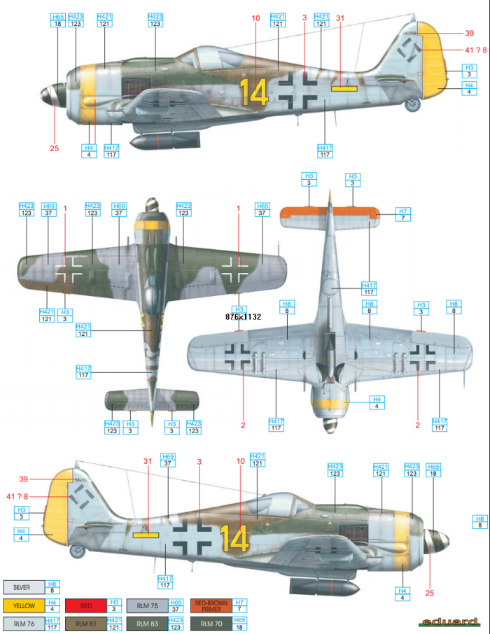 Focke Wulf Fw 190f 8 Sg 2 Color Profile And Paint Guide