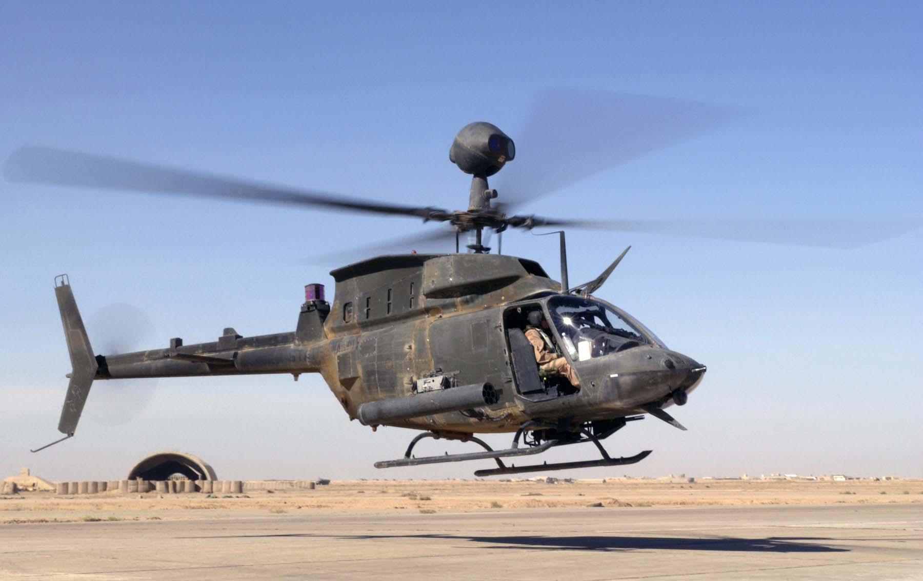На Гавайях разбился армейский вертолет OH-58D