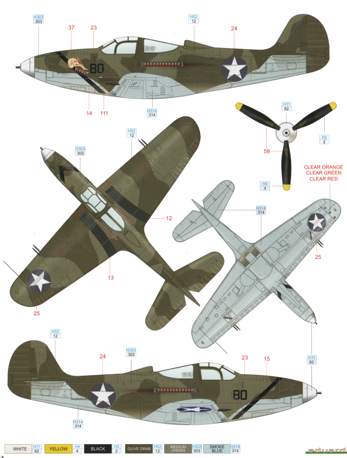Bell P 39 Airacobra Usaaf Tri Color Camouflage Color Profile Raf Coloring Page 39