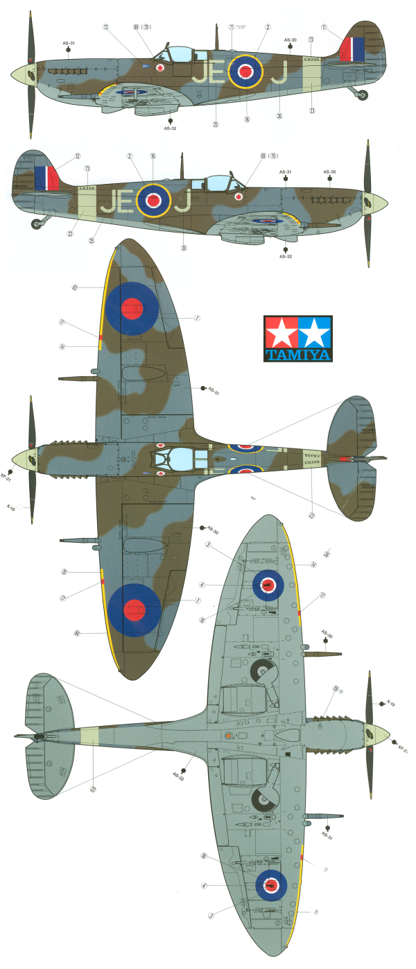 supermarine spitfire mk ix raf camouflage color profile and paint