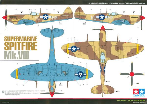 Supermarine Spitfire Mk Viii Usaaf Desert Camouflage Color