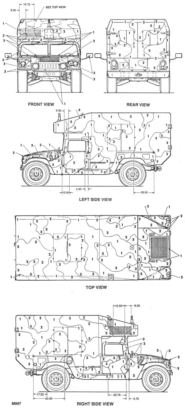 M997 Hmmwv Camouflage Color Profile And Paint Guide