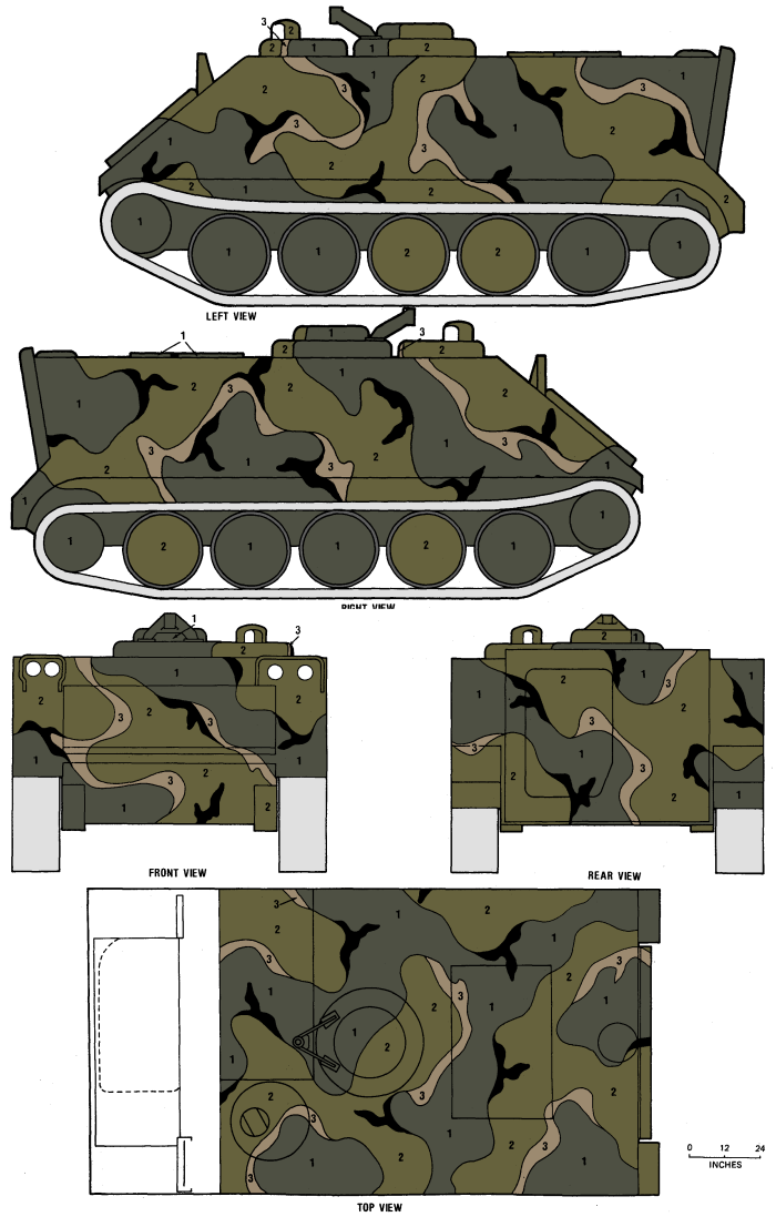 Interior color schemes - M113 Apc Merdc Summer Verdant Camouflage Color Profile And