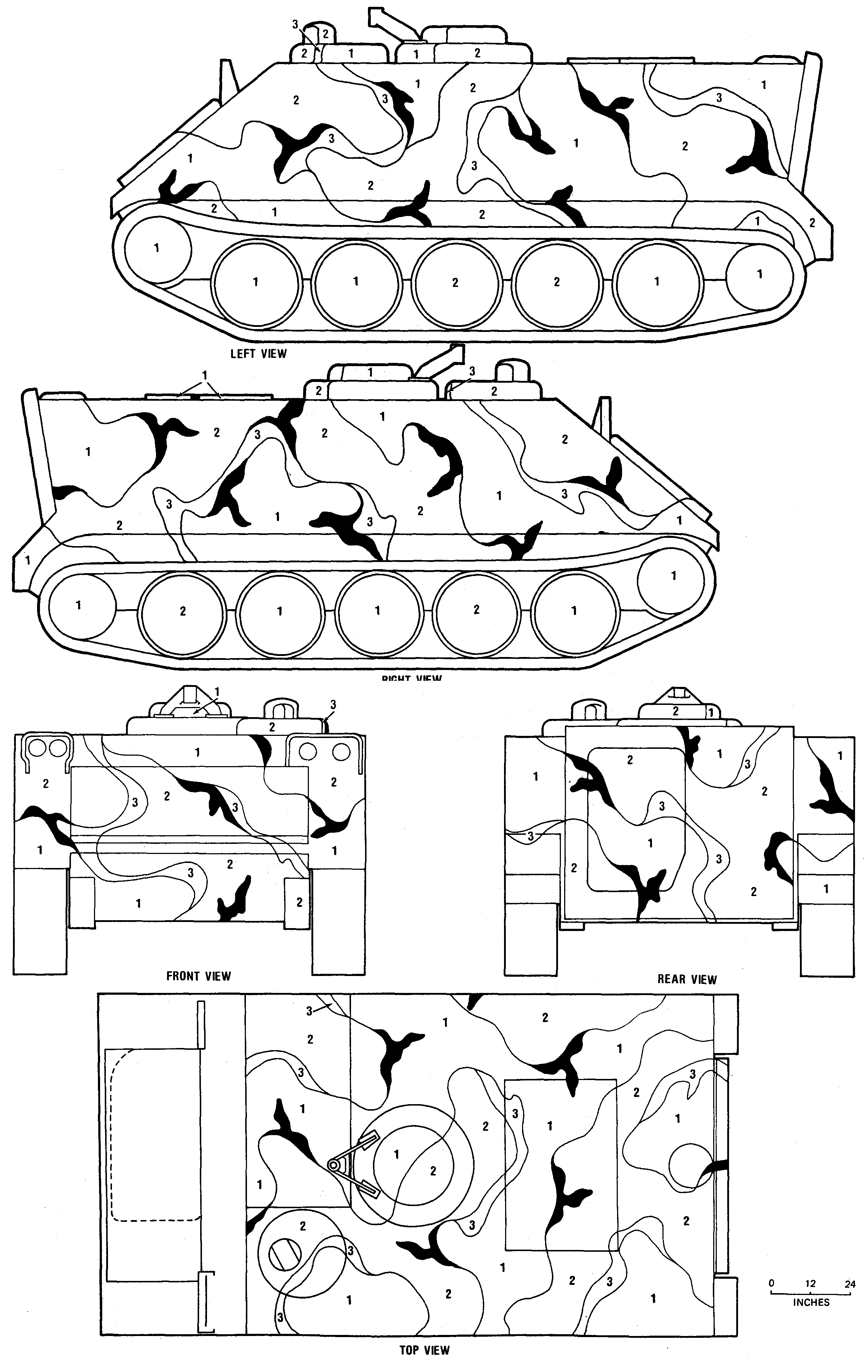 M113 Line Drawing M113 Merdc Gray Desert