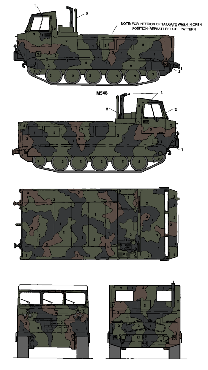 M548 Cargo Carrier Tri-Color Camouflage Color Profile and