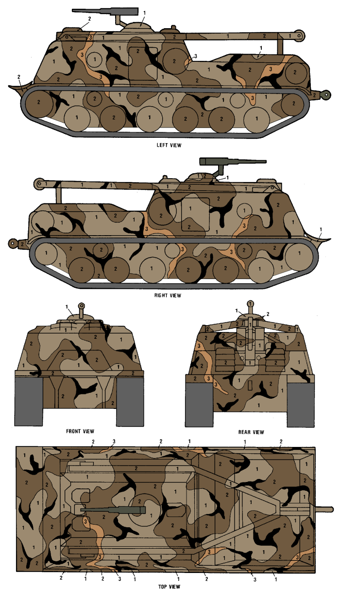 M88 ARV MERDC Gray Desert Camouflage Color Profile and