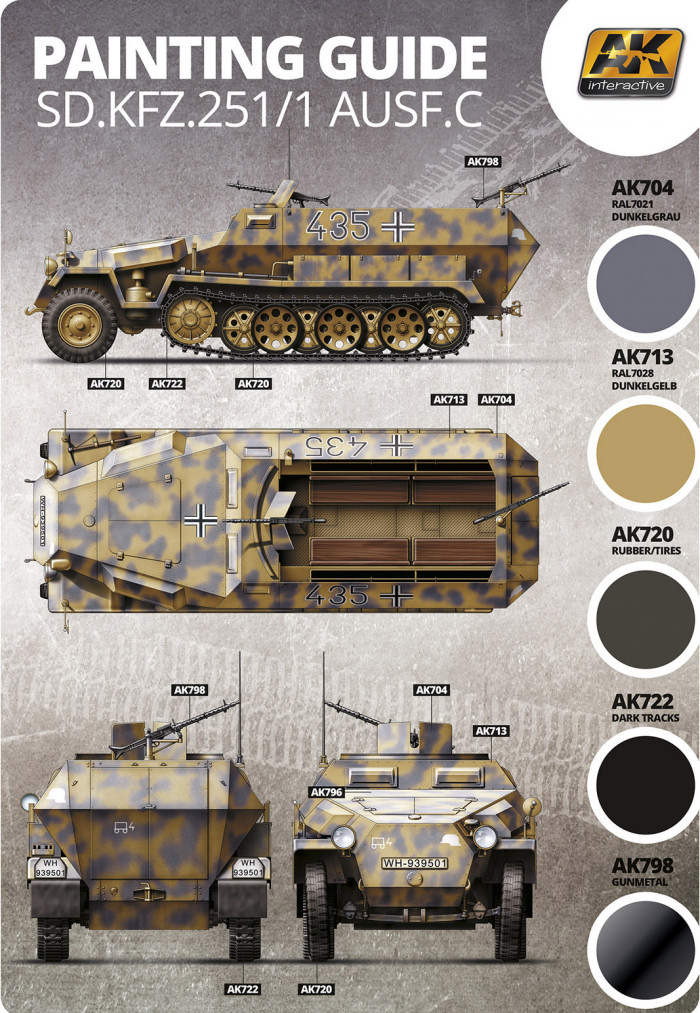Sd Kfz 251  1 Ausf C Camouflage Color Profile And Paint Guide