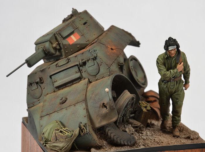 Darius Miniatures 1 35 Italian AB41 Armored Car Wedgie Photo Feature