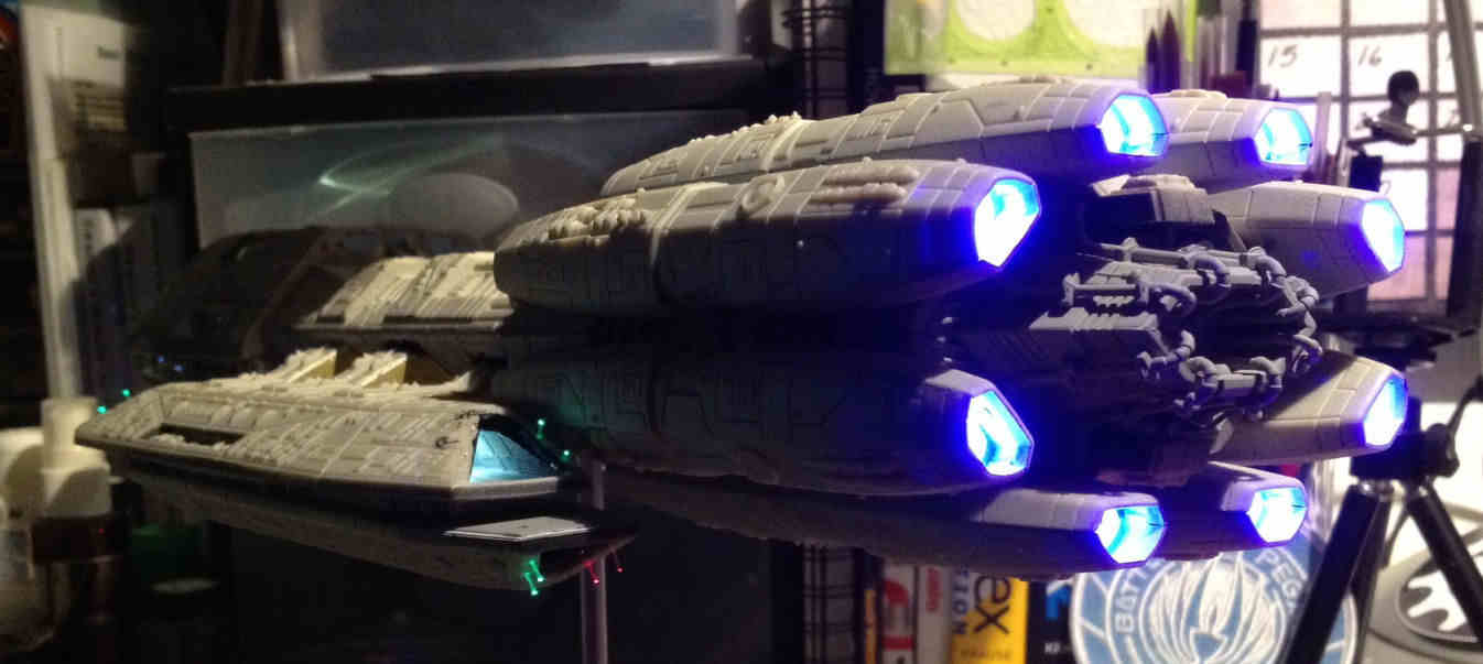 Battlestar Pegasus Model Build