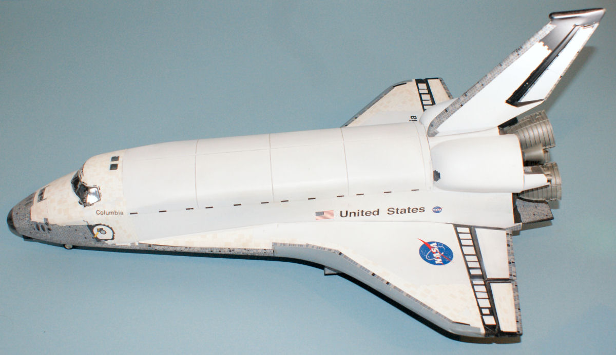 Monogram 5904 1 72 scale space shuttle columbia kit build review - Small space shuttle model ...