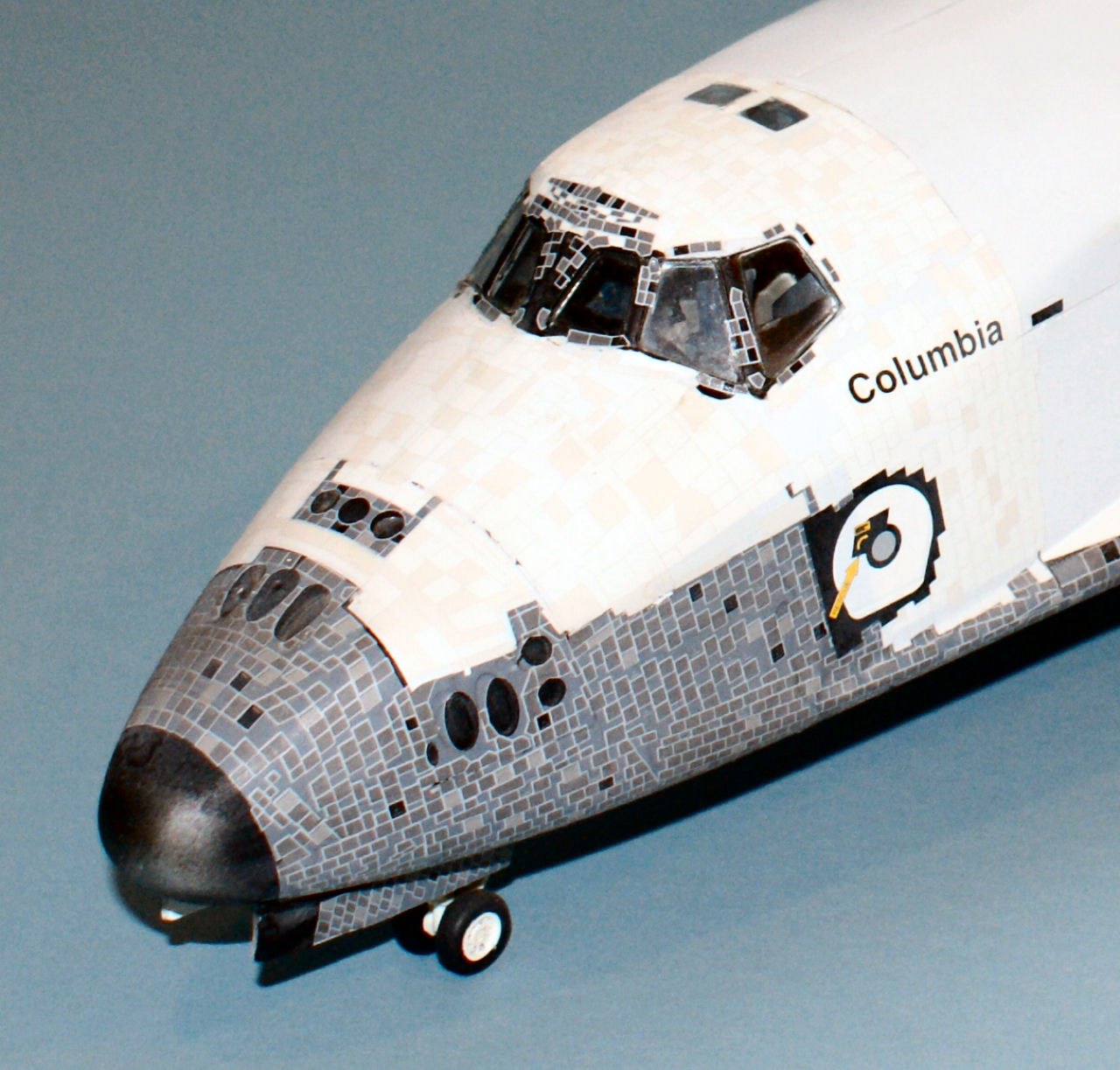 Monogram 5904 1 72 scale space shuttle columbia kit build for Space decals