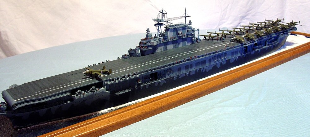 trumpeter 5601 1  350 uss hornet cv 8 build review