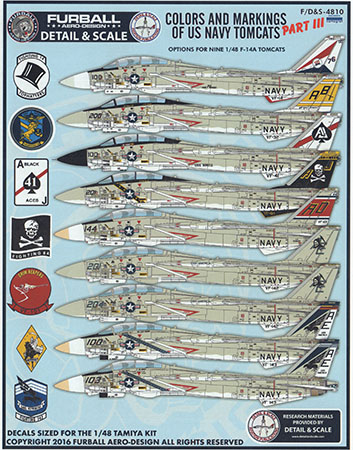 GALAXY Model 1//48 //172 G48014 G72014 Scale F-4J VF-31 Tomcatters 1976 Decal