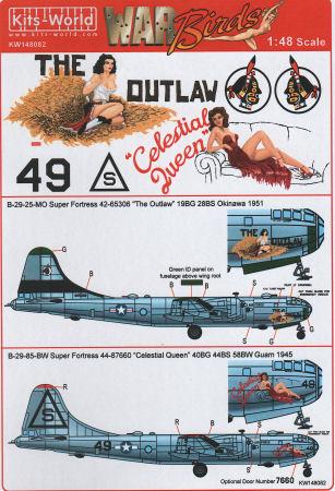 Kits World 148083-1:48 B-29 Superfortress Decalset Neu