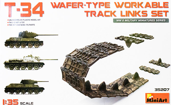 Miniart 35207 1 35 T 34 Wafer Type Workable Track Links