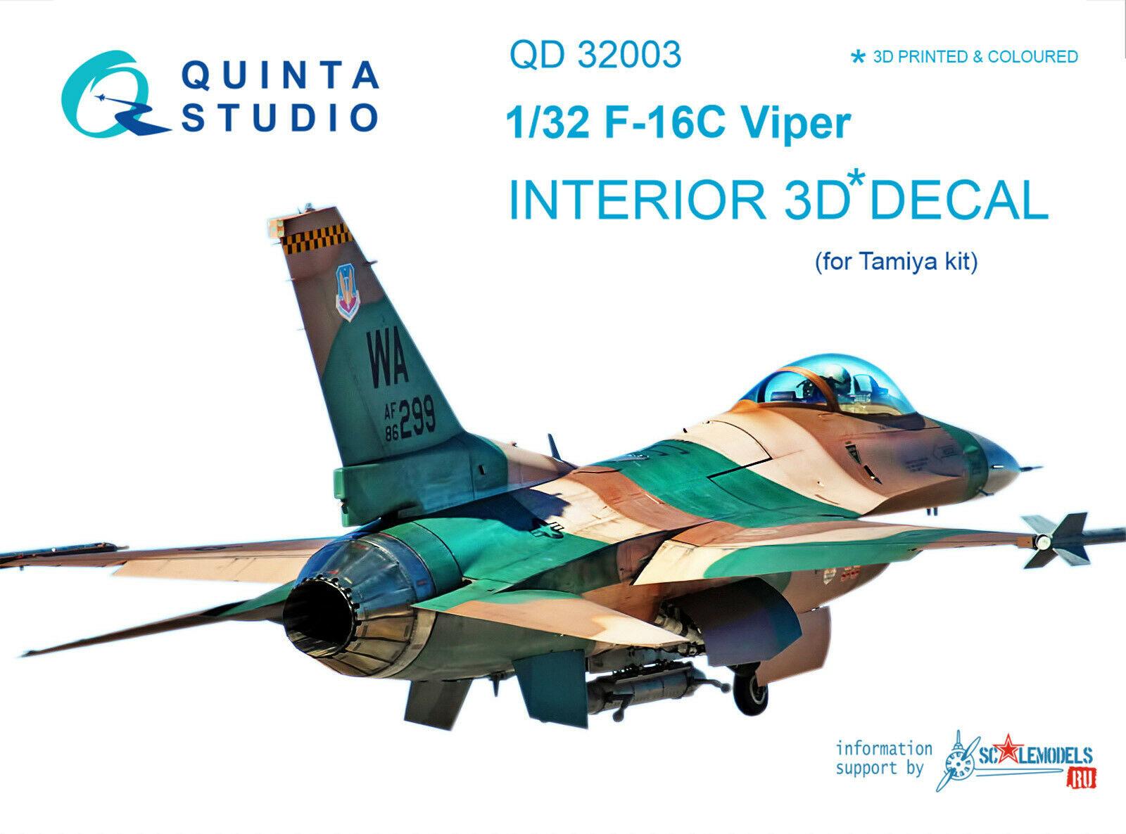 for Tamiya kit Quinta QD32004 1//32 P-51D Late 3D-Printed /& coloured interior