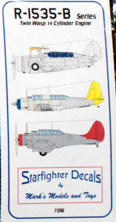 Starfighter 7216 1/72 R-1535B Twin Wasp Junior Radial Engine