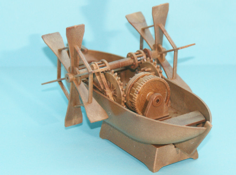 Academy 18130 Da Vinci Paddleboat Kit First Look
