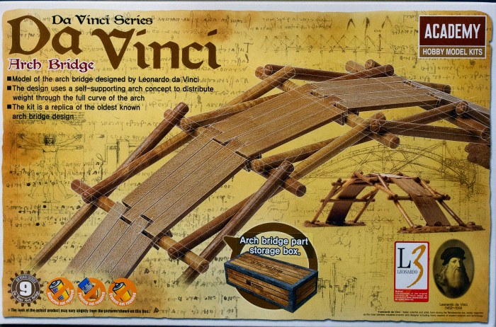 Academy 18153 Da Vinci Arch Bridge Kit First Look
