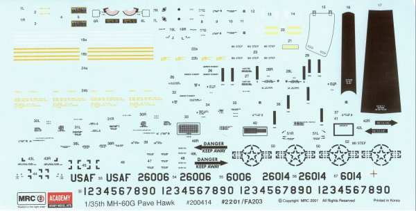 Mrc Academy 02201 1 35 Sikorsky Mh 60g Pave Hawk Kit First