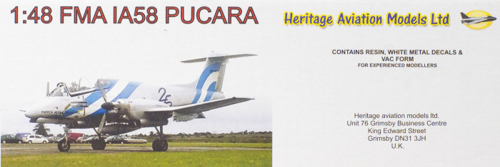 Heritage Aviation Models 1/48 FMA IA58 Pucara Kit First Look