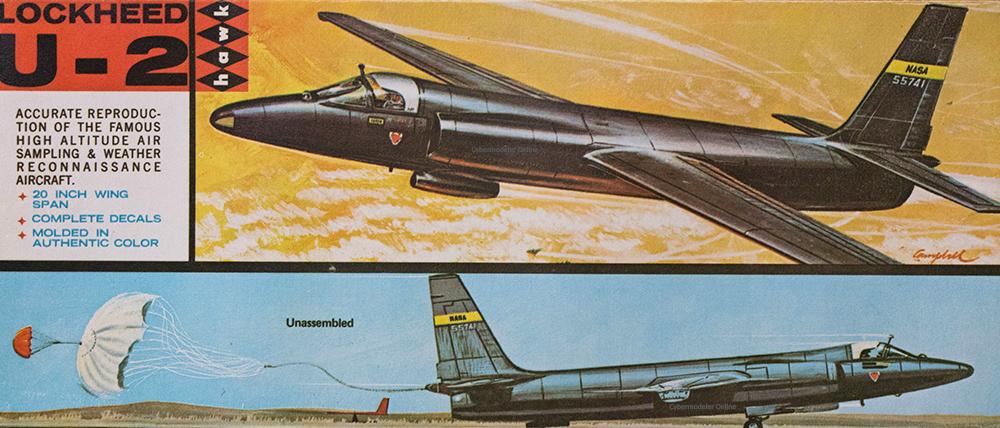 Hawk 0209 1/48 Lockheed U-2 Kit First Look