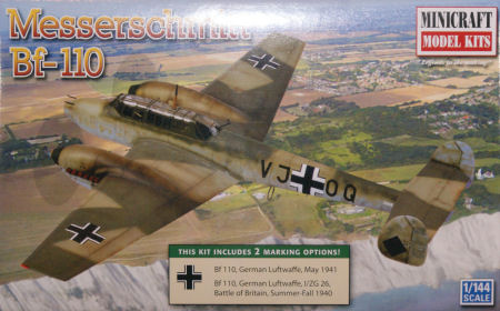 Minicraft 14720-1//144 Bf-110 Messerschmitt Neu