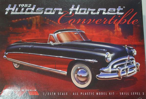 Moebius Models 1204 1 25 1952 Hudson Hornet Convertible Kit First Look