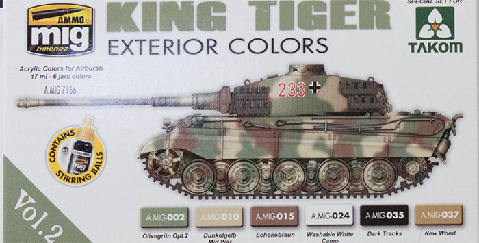 Ammo by Mig Jimenez King Tiger Exterior Colors Paint First Look