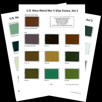 Us navy world war ii ship colors set 2 review
