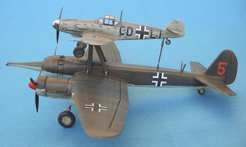 Italeri 072 1//72 Model Aircraft Kit WWII German Mistel 1 Ju-88 A-4 and BF-109 F4